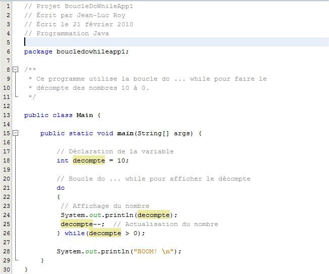 la boucle do while en java - boucle while java | Java ...